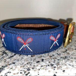 Preppy Lacrosse Leather Belt